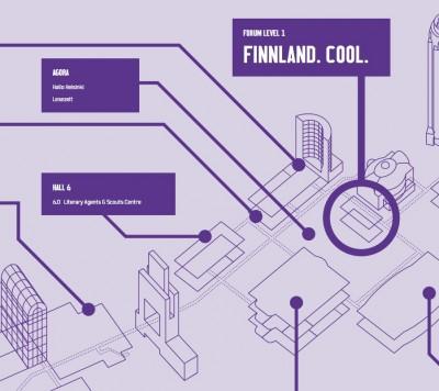 Finnland. Map.